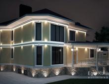 Дизайн фасадов и внутренней отделки выполнены в одном стиле