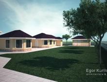 Архитектура и дизайн гостевых домов выполнены в одном стиле с основным домом