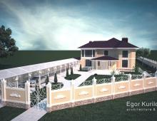 Проект усадьбы выполнен в классическом стиле, который всегда останется актуальным