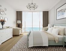 Дизайн интерьера спальни получился эксклюзивным благодаря тому, что много внимание было уделено мелочам