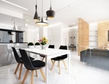 Дизайн квартиры в современном стиле, ЖК VOGUE Минск