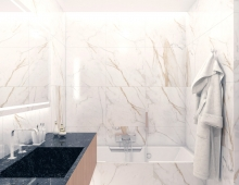 Интерьер ванной комнаты, ЖК VOGUE Минск