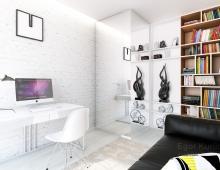 Дизайн-проект кабинета в современном стиле