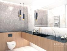 Дизайн ванной комнаты с применением натурального камня в отделке