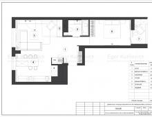 Планировочное решение квартиры в ЖК Чайковский от нашей дизайн-студии