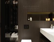Дизайн интерьера ванной комнаты выдержан в стиле New Luxury