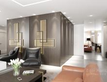 Эксклюзивное декоративное панно в гостиной придает интерьеру индивидуальность